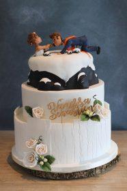 gâteau mariage montagne